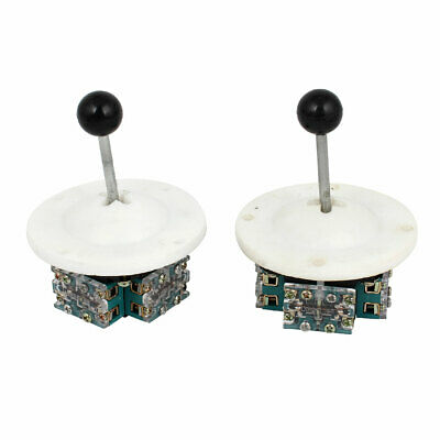 2 x AC 380V 5A 8P4T Latching Electronic Circuit Control Joystick Switch