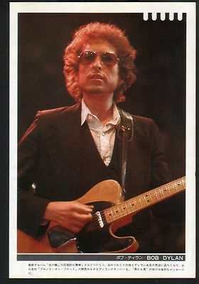 1975 Bob Dylan vintage JAPAN mag photo pinup / mini poster dy004m
