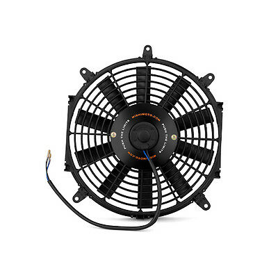 "Mishimoto Universal 12"" Slim Line Electric 12v Fan - Black"