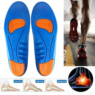 Men GEL Orthotic Support Insoles Heel Arch Foot Blisters Sport Pad Cushion
