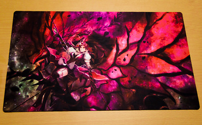 C104 Free Mat Bag Akiza Izinski Black Rose Dragon Custom Playmat Yugioh Play Mat