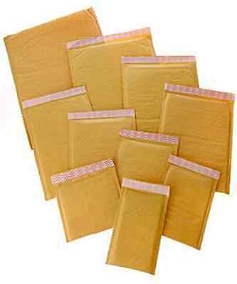 "500 #000 4"" x 8"" KRAFT BUBBLE MAILERS PADDED ENVELOPE SELF-SEALING MAILERS 4 x 8"