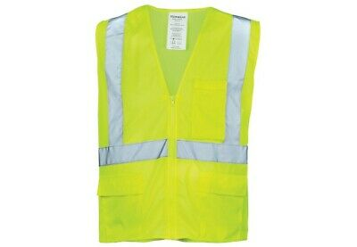 Ironwear 1284 MESH Economy Class 2 Safety Vest With Zipper Lime Green & Orange