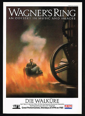 1983 Wagner's Ring Die Walkure PBS TV Show Promo Color Vintage Print Ad