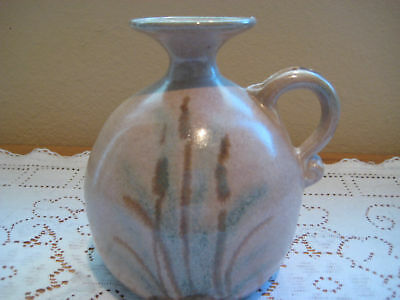BEAUTIFUL VINTAGE 1985 CLOUDS FOLSOM POTTERY HAND MADE SMALL VASE, SIGNED