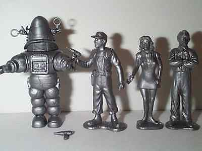 FORBIDDEN PLANET FIGURE SET With ROBBY THE ROBOT ,ALTAIRA,CAPT.ADAMS & MORBIUS