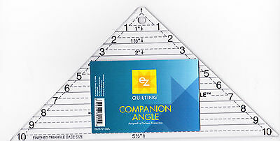 Companion Angle ruler for cutting quarter square triangles