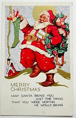 Holidays 1911 Art Deco Designed Silver Santa Claus Christmas Postcard Buy One Get One Free Periods & Styles