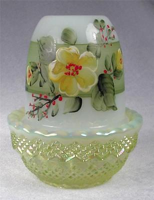 MOSSER Fairy Glimmer Light Lamp with Hand Painted Yellow Flowers