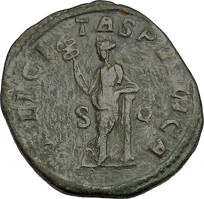 JULIA MAMAEA Sestertius Ancient Roman Coin GOOD LUCK Cult  Commerce i42151