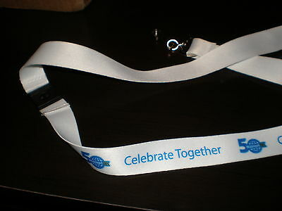 Wal-Mart  white LANYARD 50TH ANNIVERSARY - NEW, UNUSED - Free Shipping