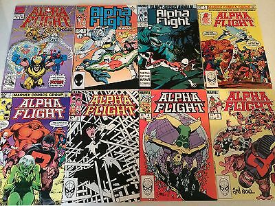 Alpha Flight lot of 107 issues John Byrne Jim Lee