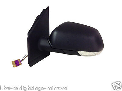 Vw Volkswagen Polo 2005-2009 Electric Door Wing Mirror Lh Left Passenger Side