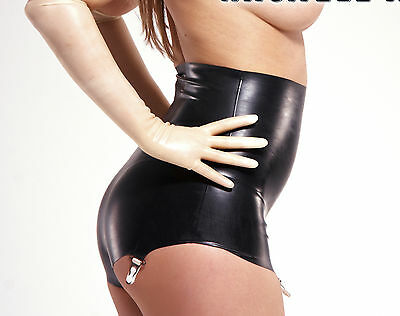NEW Black Latex Rubber Female Panti Girdle High Waisted(ENGLISH) S M L XL