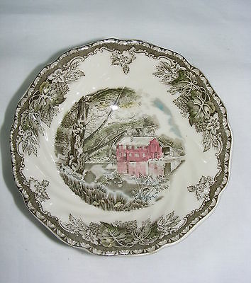 """Vintage Johnson Bros Friendly Village China 6"""" Cereal Bowl The Old Mill"""