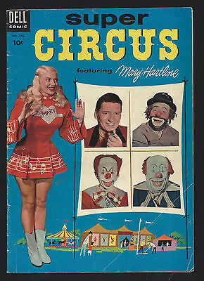 1954 Dell Four Color #592 Super Circus With Mary Hartline VG