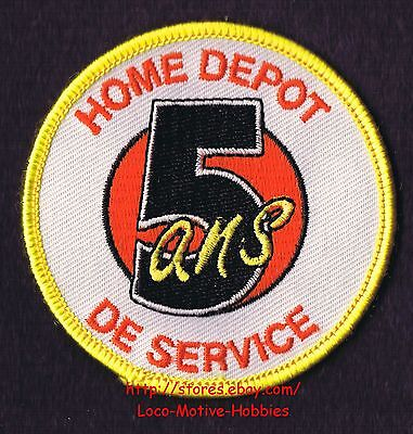 LMH PATCH Badge  HOME DEPOT 5 ANS de SERVICE  Years Award Uniform Insignia 2.75""