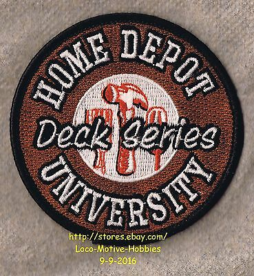 LMH PATCH Badge  HOME DEPOT UNIVERSITY  Home Education Workshop  DECK SERIES  3""