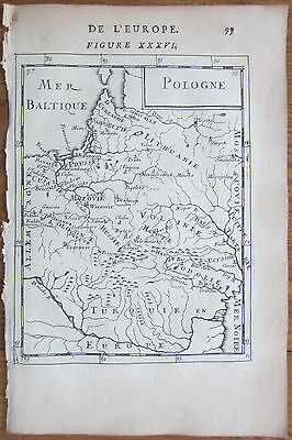 MALLET: Map of Poland Lithuania - 1683