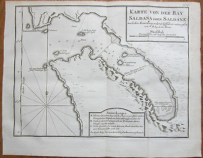 Bellin: #Map of Saldanha Bay South Africa Cape  - 1750