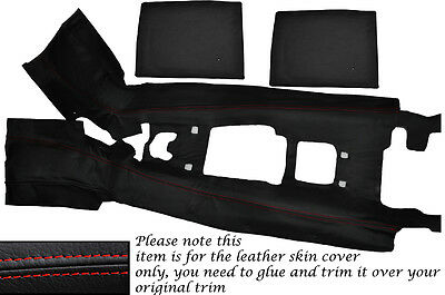 Red Stitch Centre Console Tunnel Leather Skin Cover Fits Honda S2000 04-09