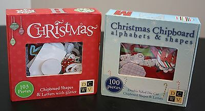 Lot of 2 NIB Christmas Chipboard Shapes & Letters Alphabets by DCWV Scrapbooking