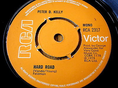 "Peter D Kelly - Hard Road   7"" Vinyl"