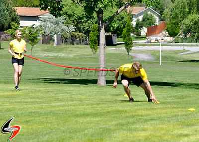 SPEDSTER Speed Overspeed Training Kit MEDIUM Resistance Bands 4', 8' and 20'