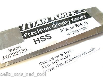 4 x 5/8 x 1/8  HSS V2 JOINTER KNIVES FITS CRAFTSMAN JET JJ-4 BOICE CRANE  ATLAS