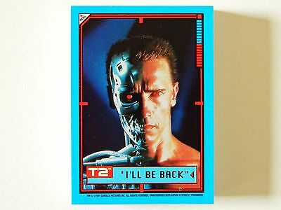 NEW! TERMINATOR 2 JUDGMENT DAY (Topps/1991) Complete Sticker Trading Card Set 44