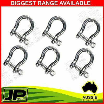 X6 Bow Shackle Stainless Ss304 10Mm Fits Arb,tjm Winch Snatch Trailer Marine