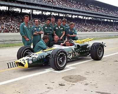 JIM CLARK 1965 INDY 500 WINNER AUTO RACING 8X10 PHOTO #3