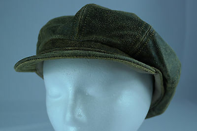 6ad069b1418a50 Vintage Genuine Leather 8/4 Pageboy/Gatsby/Driving Hat Made in USA Size