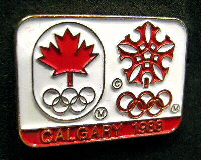 CALGARY 1988 15th Winter Olympic Games Canadian Television  Media pin Very Rare