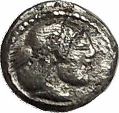 SYRACUSE in SICILY 475BC Hieron I Arethusa Nymph Litra Silver Greek Coin i41461
