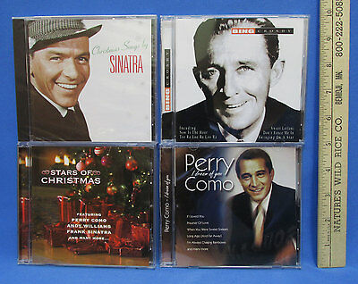 Lot of 4 Music CDs Christmas Songs By Perry Como Bing Crosby Sinatra & Williams