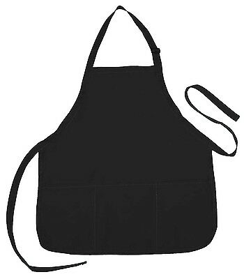 10 Apron Commerical Restuarant Home Residential Bib Spun, Gifts (3 Pockets)