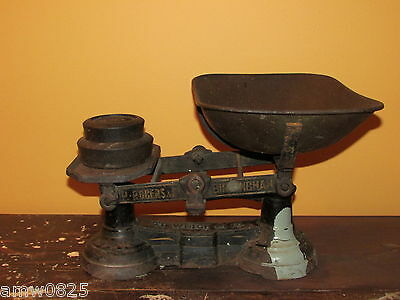 ANTIQUE CAST IRON COUNTER BALANCE STORE SCALE P ROGERS BIRMINGHAM ENGLAND WEIGHT