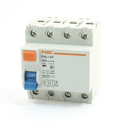 35mm DIN Rail Mount 6000A Overload Circuit Breaker 4 Poles 4P 400V 40A