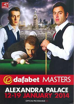 Snooker 2014 Masters Mint Programme