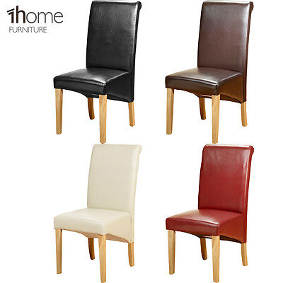 Admirable Pu Leather Dining Chairs Wooden Legs Room Home Restaurant Andrewgaddart Wooden Chair Designs For Living Room Andrewgaddartcom