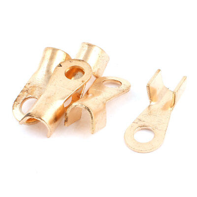 5Pcs 250A Open Copper Battery Crimp Terminal Wire Lugs 10.5mm Ring for 3/8 Stud
