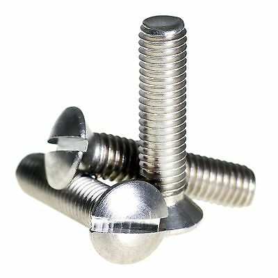 M2 M2 5 M3 M4 A2 Stainless Steel Raised Slotted Countersunk Machine Screws  Bolts