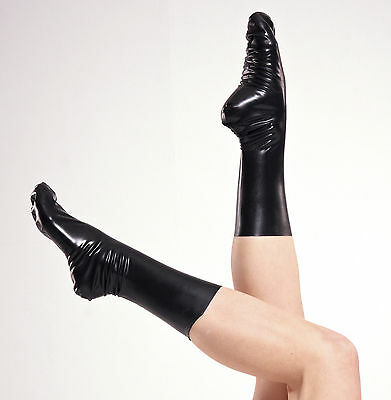 NEW Black Latex Rubber Unisex Socks (ENGLISH) S M L XL