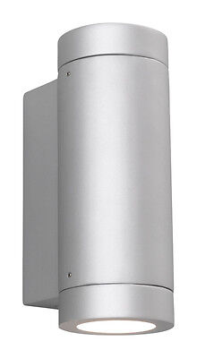Astro Porto Silver Aluminium Low Energy 2x7W Outdoor Up and Down Wall Light