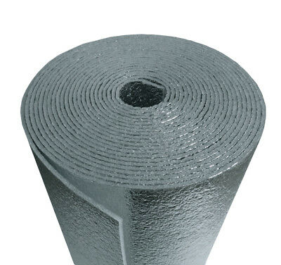 6 x 125 Reflective Foam Core Insulation HVAC Facuet Pipe Air Duct Wrap Roll