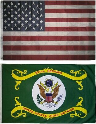 Wholesale LOT 3' X 5' U.S. AMERICAN & US Army Retired FLAG Banner 3X5