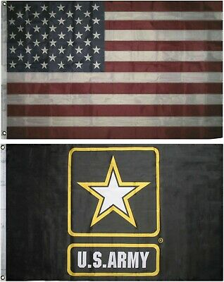 Wholesale LOT 3' X 5' U.S. AMERICAN & US Army Strong Black FLAG Banner 3X5