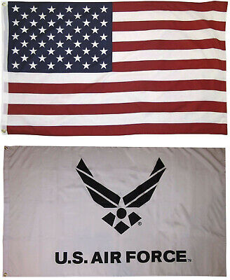 Wholesale LOT 3' X 5' U.S. AMERICAN & US Air Force Wings FLAG Banner 3X5