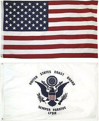 Wholesale LOT 3' X 5' U.S. AMERICAN & US Coast Guard FLAG Banner 3X5